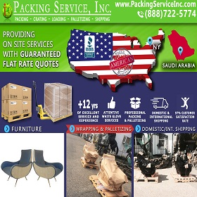 Shipping Palletized Chairs from NY to Saudi Arabia